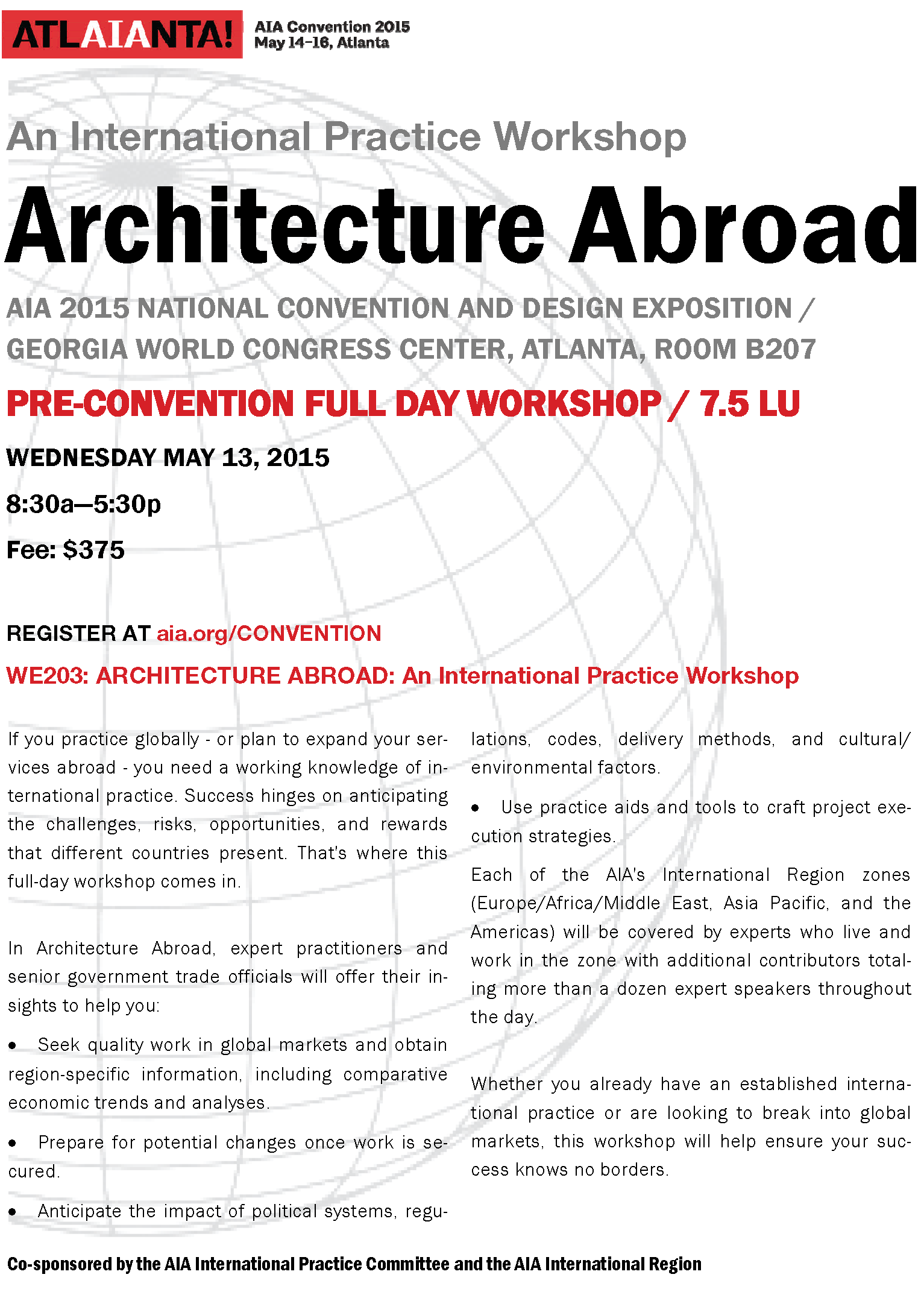 AIA Convention 2015 International Practice Workshop