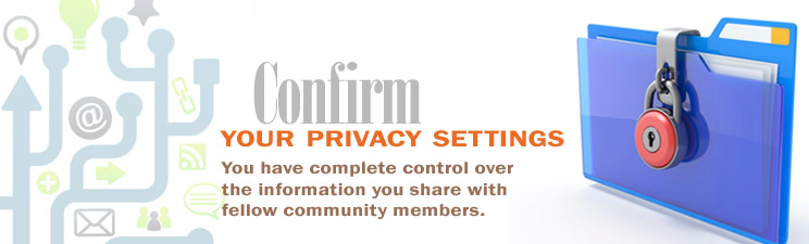 Confirm your privacy settings