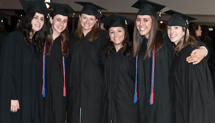 Health admin graduates wearing UPD honor cords