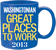 Washingtonian Magazine 50 Great Places to Work