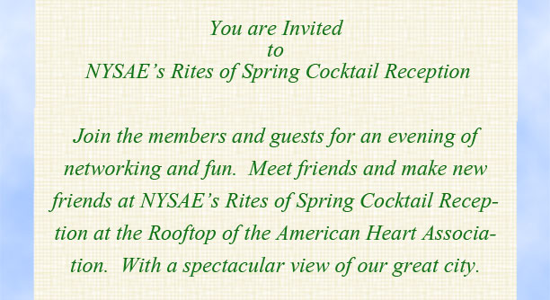 NYSAE Rights of Spring