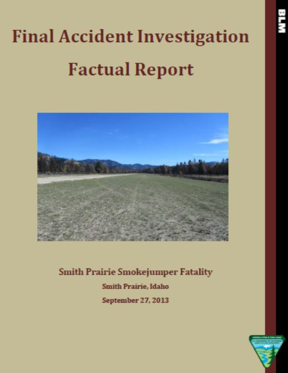 Cover of Final Factual Report: Smith Prairie Smokejumper Fatality