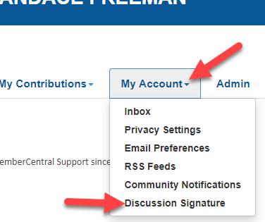 My Account.Discussion Signature