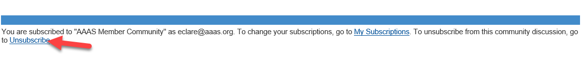 Arrow to Unsubscribe link.