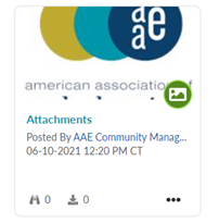 Shows how image attachments will appear on your discussion post