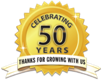 Celebrating 50 Years Logo