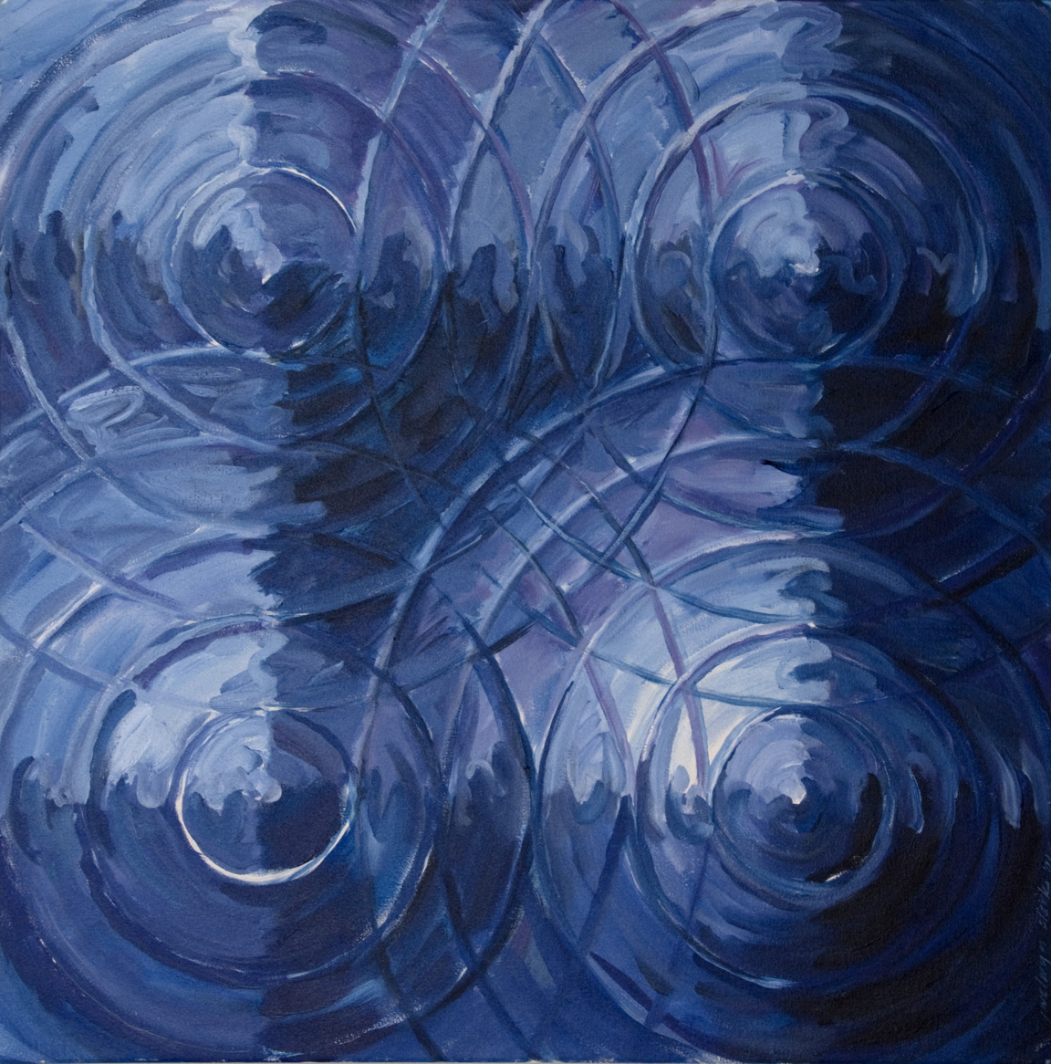 J Welwyn Clark Blue Mandala