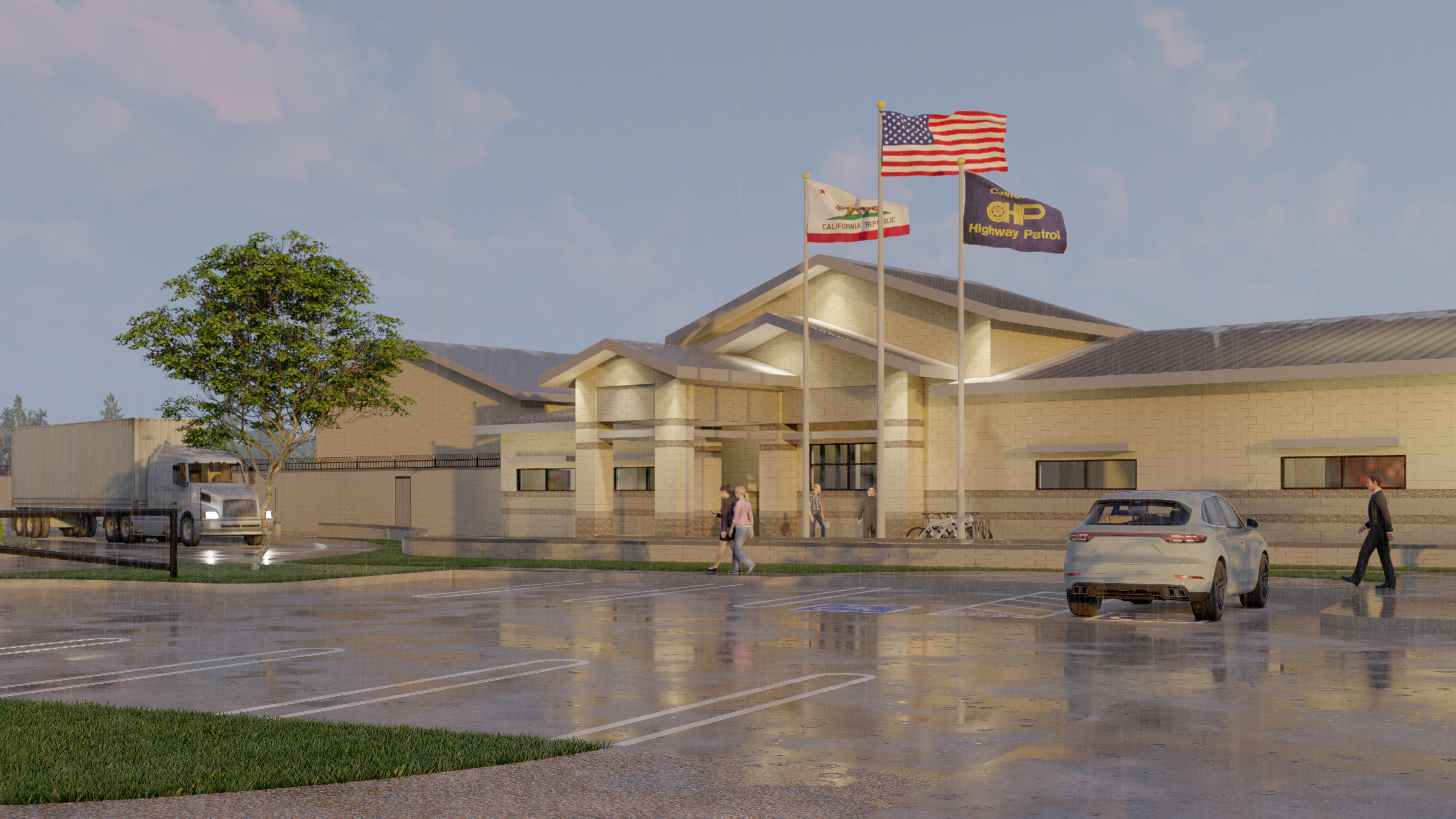 Proposal for California Highway Patrol Replacement Facility. Courtesy: Christine Smith.