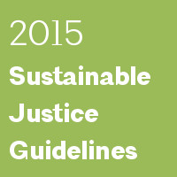 2015 Sustainable Justice Guidelines