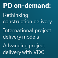 PD course on-demand on AIAU, including rethinking construction delivery, international project delivery models, and advancing project delivery with VDC. Click here!