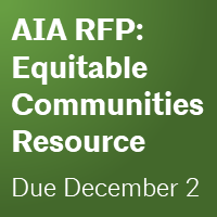 RFP: Equitable development resource and application for architects. Due December 2