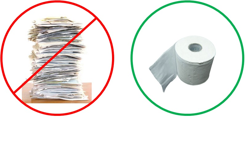 Less paper, not paperless