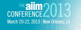AIIM Conference 2013