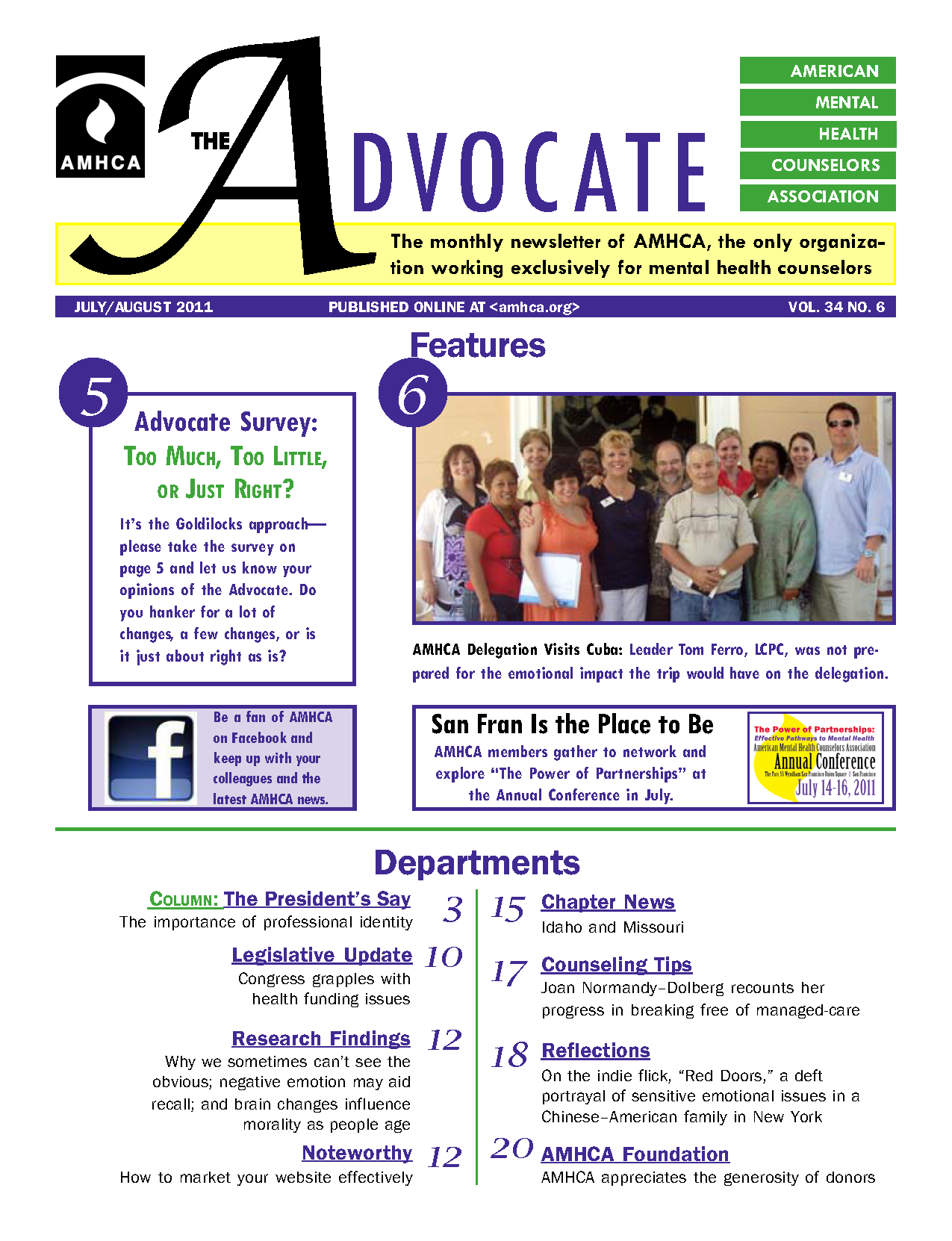 The Advocate Magazine - American Mental Health Counselors Association