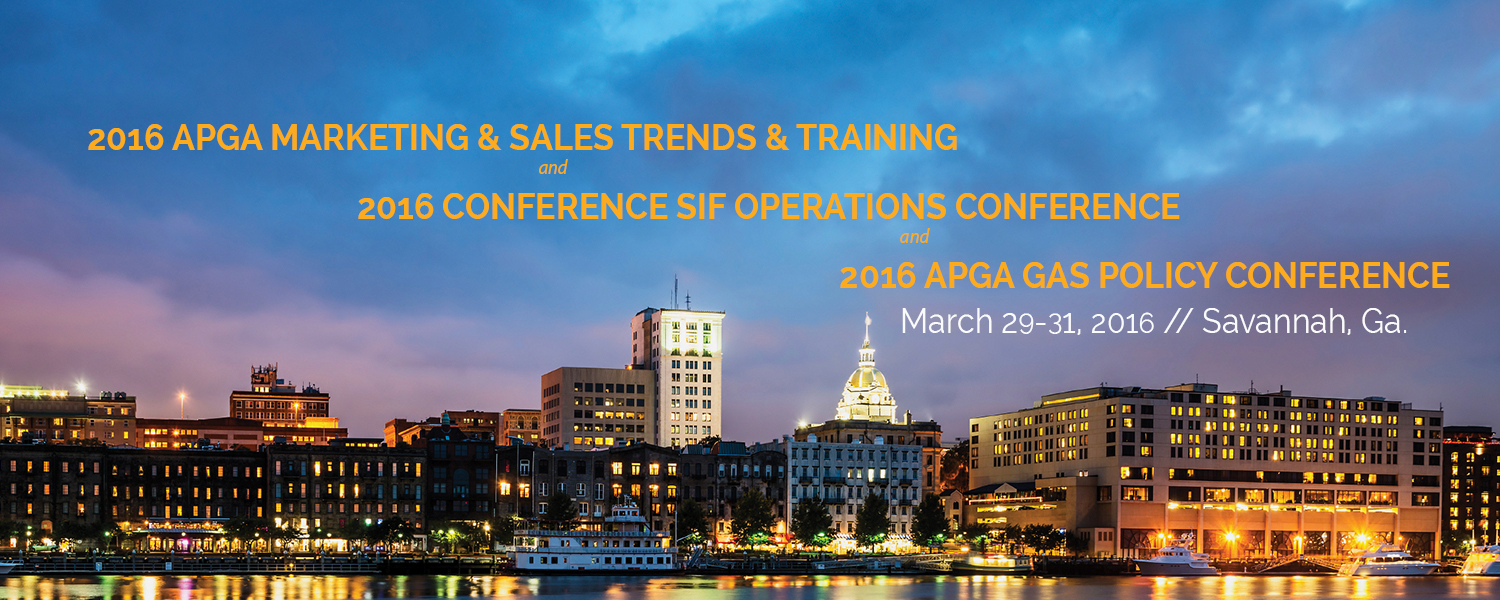 APGA Security and Integrity Foundation's (SIF) Operations Conference and the APGA Marketing & Sales Trends & Training Conference (MSTTC) & APGA Gas Policy Conference (GPC