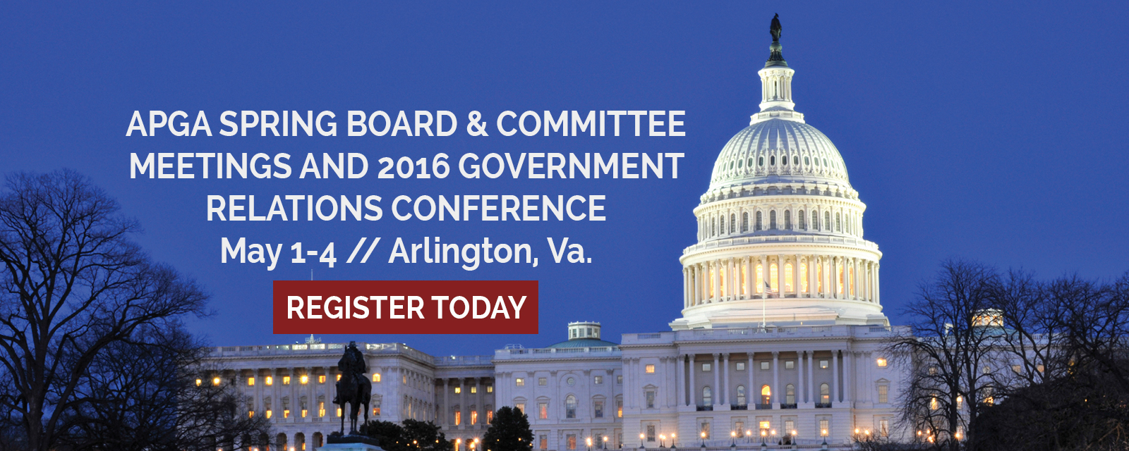 Spring Board & Committee Meetings and 2016 Government Relations Conference