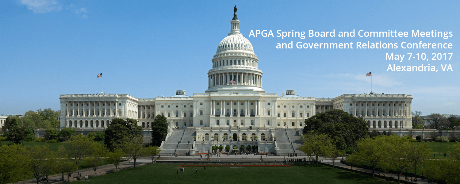 Register for the APGA Spring Board and Committee Meetings and 2017 GRC in Alexandria, Va., May 7-10. There is no fee for the GRC.
