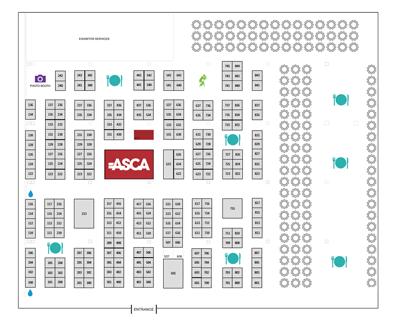 ASCA 2016 Exhibit Hall Map