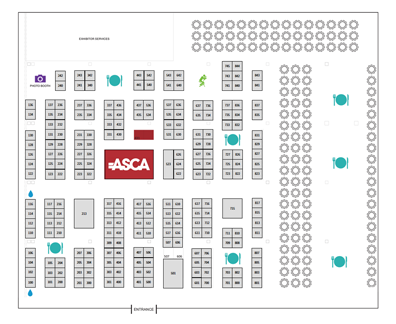 ASCA 2018 Exhibit Hall Map