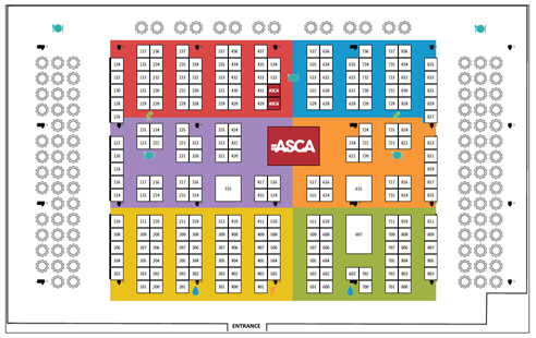 ASCA 2016 Exhibit Hall Map