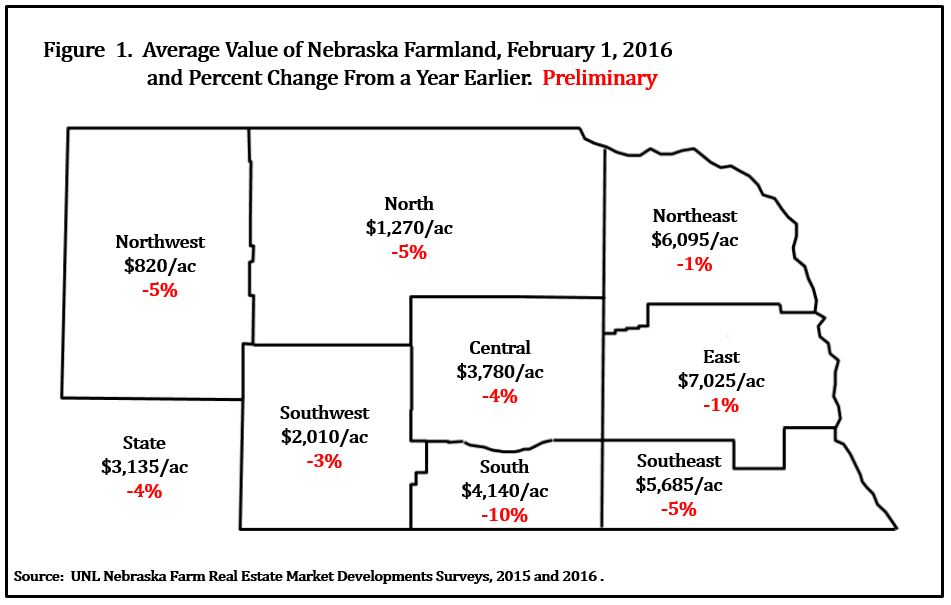 NE Land Values Map 2016