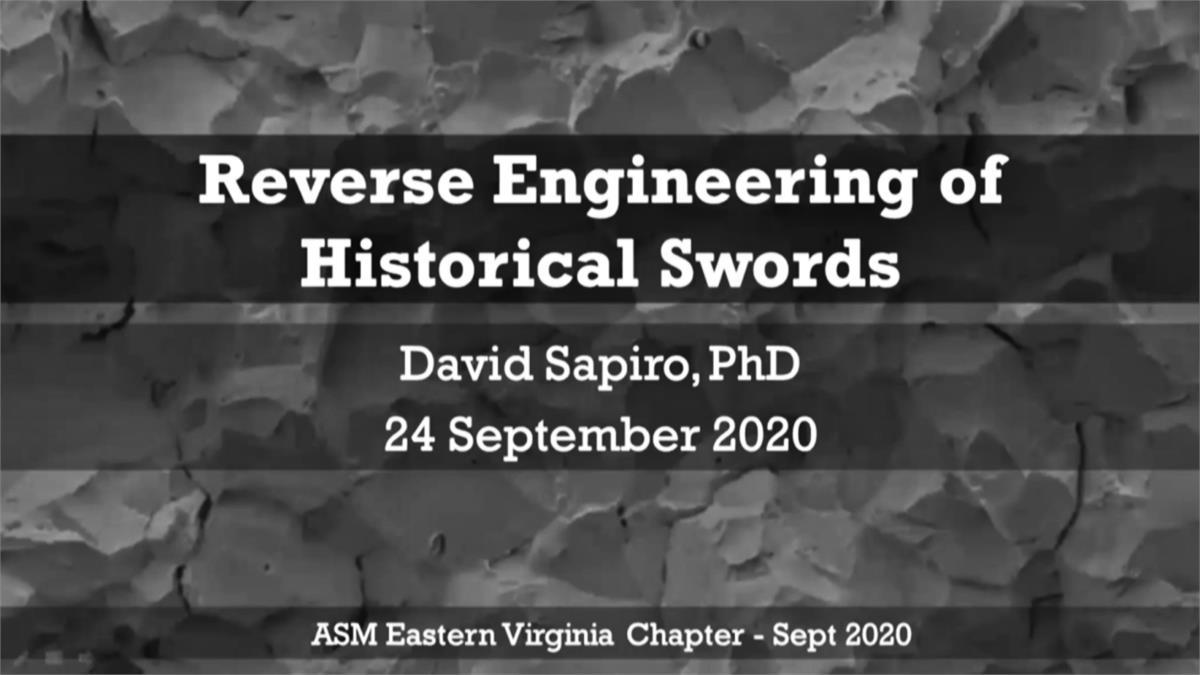 Reverse Engineering of Historical Swords