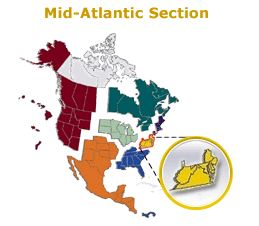 Mid-Atlantic Section Map
