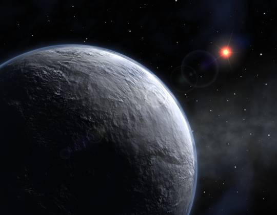 Icy exoplanet
