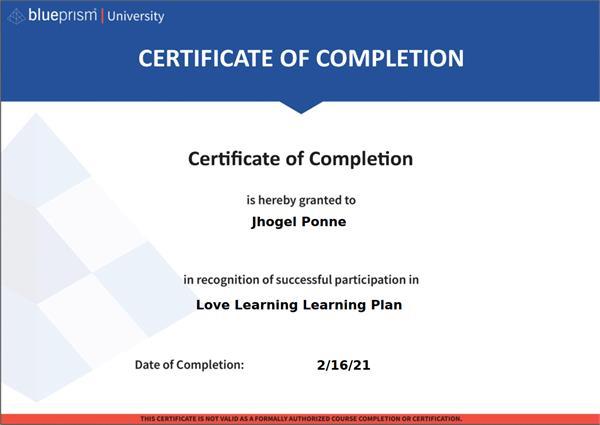 Certificate jepa
