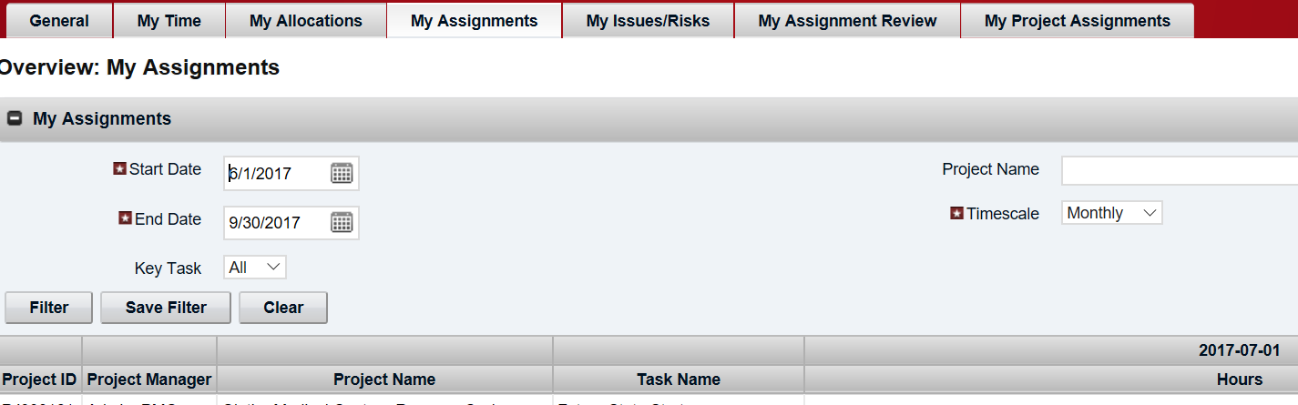 My Assignments - Working Portlet