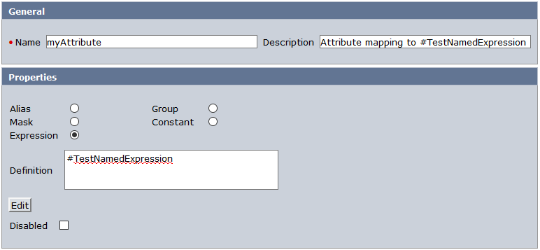 Modify your user directory and add an attribute mapping which points to a named expression.