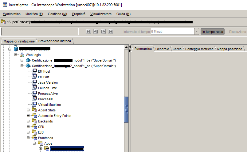Here you can see, there are no Errors or Traces Tab and the Overview Tab isn't showing any contents