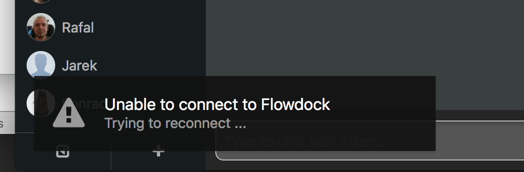 Flowdock fails to work when Private Internet Access (PIA
