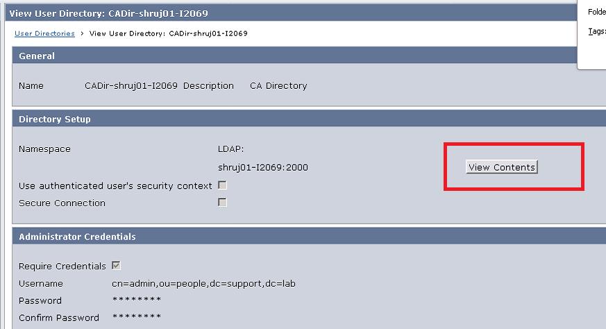 Configure CA Directory user store for CA SSO | Layer 7