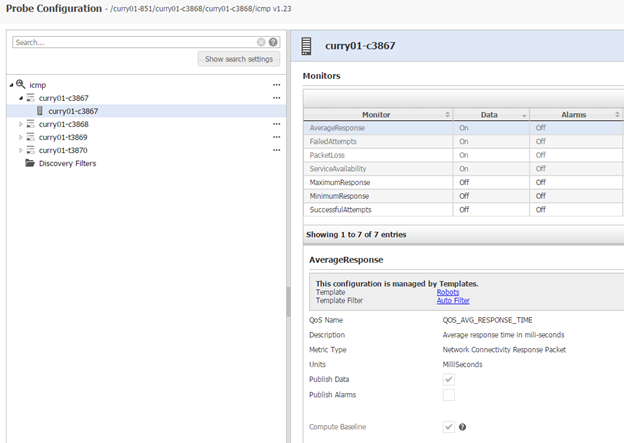 ICMP Probe Configuration | DX Infrastructure Management