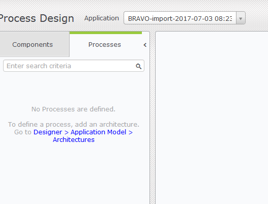Unable to see Components as well as Processes despite of deleting corrupt Process from CA UI