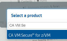 CA VM:Secure in the dropdown list at docops.ca.com