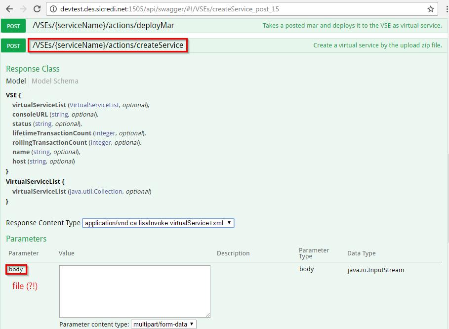 How to use 'createService' REST API operation? | Service