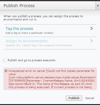 Publish error