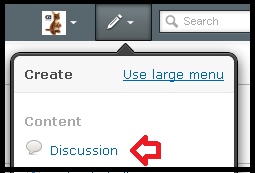 Pencil dropdown - create Discussion - highlighted.png