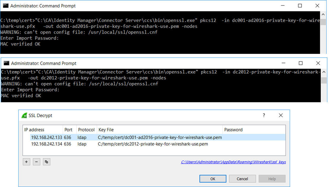 Using Wireshark to decrypt Active Directory traffic from the