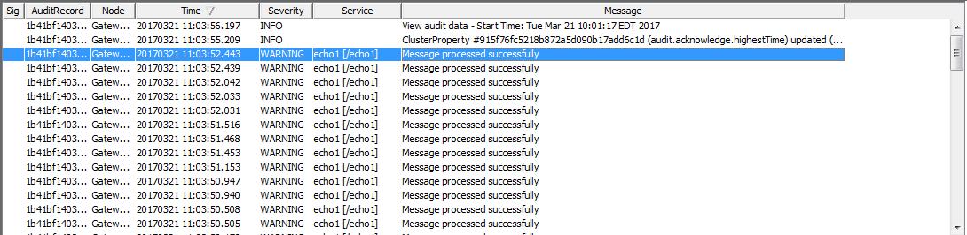 audit messages