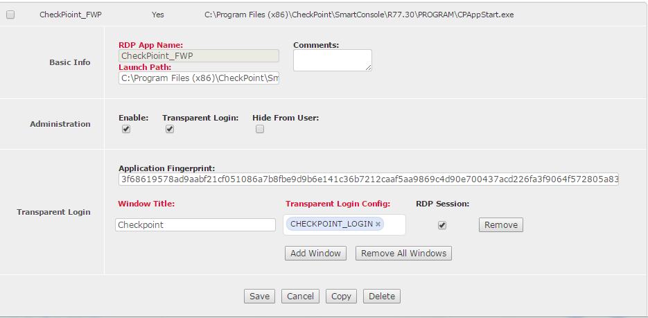 RDP Application