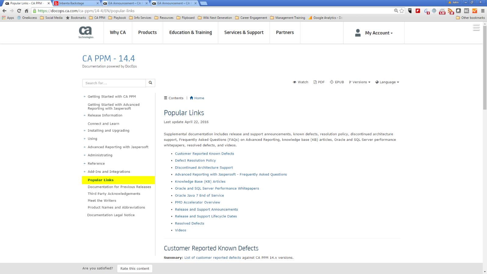 CA PPM 14.4 Documentation - Popular Links.png