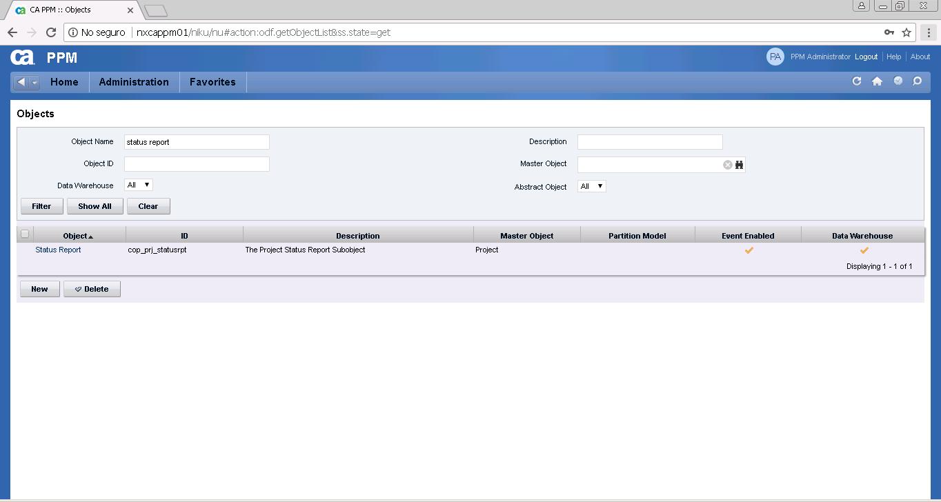 Load Data Warehouse - Failed | Clarity PPM1