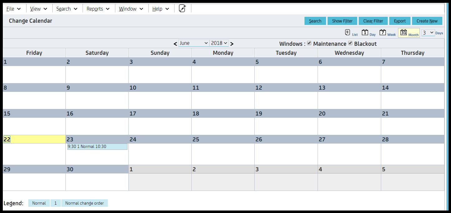 Change Calendar View