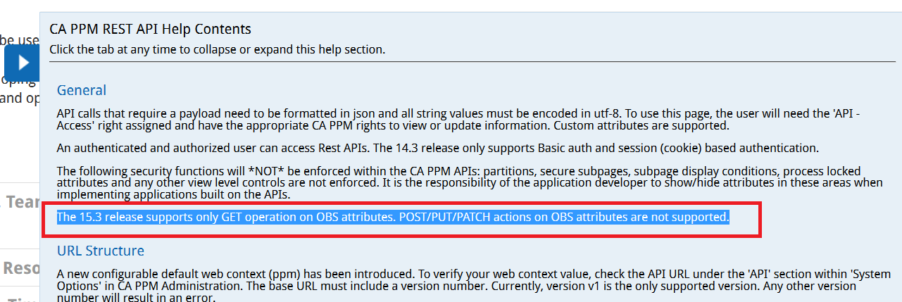 CA Clarity REST API Update Resource OBS | Clarity PPM1