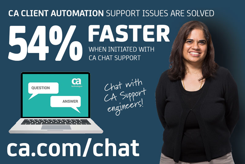 CA Client Automation Chat Support