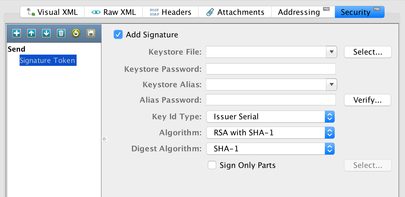 How do I implement digital signature in web service using CA