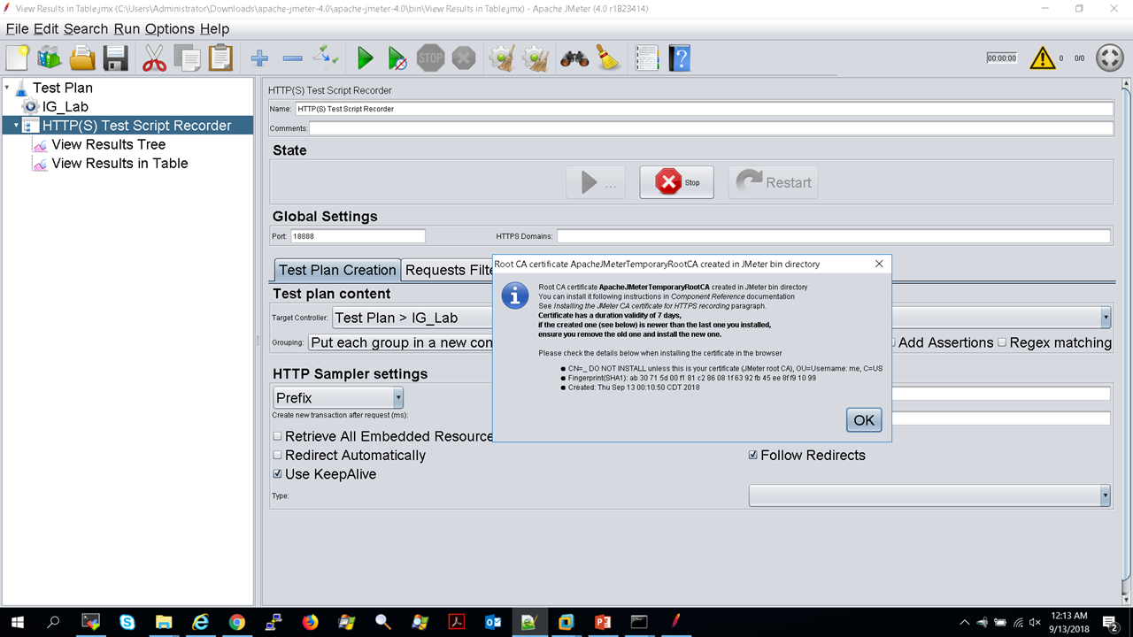 Jmeter Test Plans for Web Services Between Server Components